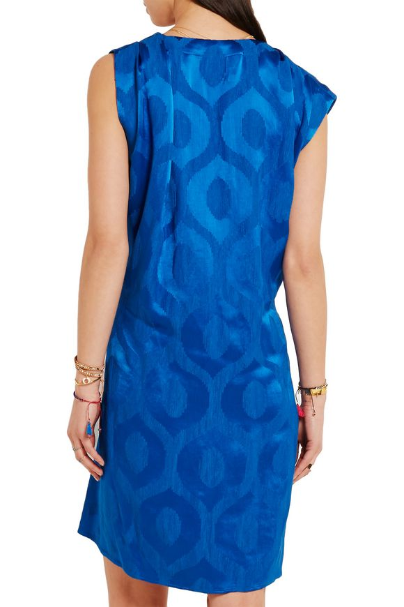 Sudley satin-jacquard wrap-effect dress | ISABEL MARANT | Sale up to 70% off  | THE OUTNET