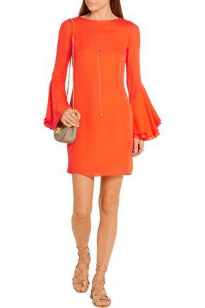 HANEY Ruffled silk-georgette mini dress