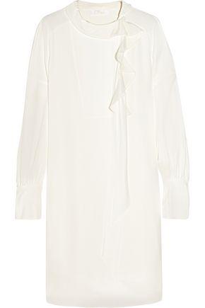 CHLOÉ Ruffled silk-crepe dress