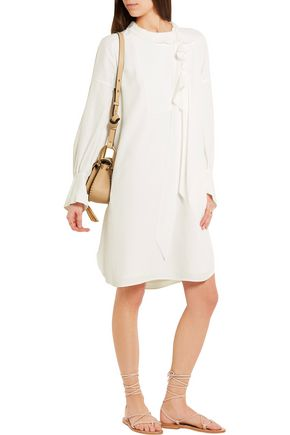 CHLOÉ Ruffled silk-crepe dress