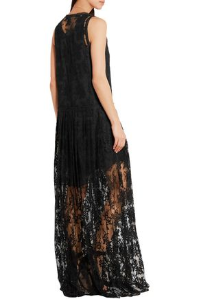 CHLOÉ Cotton-blend lace gown