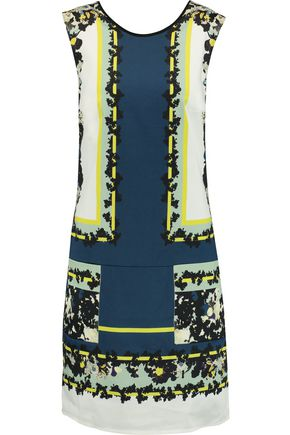 ERDEM Frula printed stretch-cotton mini dress