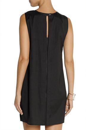 T by ALEXANDER WANG Layered stretch-silk twill mini dress