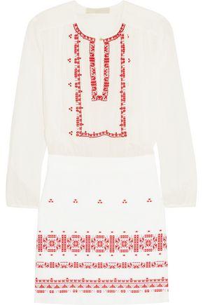 VANESSA BRUNO Exo embroidered cotton mini dress