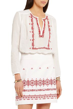 VANESSA BRUNO Exo embroidered cotton mini dress