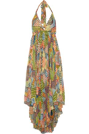 ALICE + OLIVIA Ollie printed gauze maxi dress