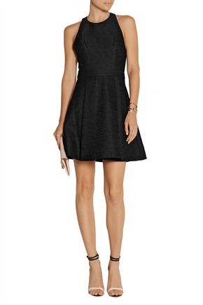 ALICE + OLIVIA Danie cutout jacquard mini dress