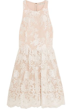 ALICE + OLIVIA Ladonna silk-embroidered tulle mini dress