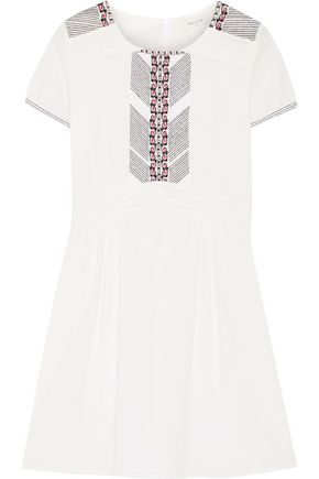 PAUL & JOE Embroidered cotton mini dress