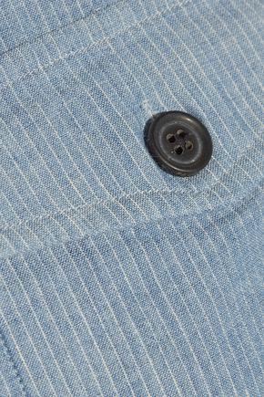 PAUL & JOE Striped cotton and linen-blend jacket