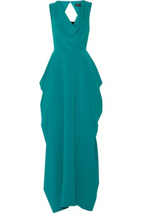 ALICE + OLIVIA Gretchen draped crepe gown