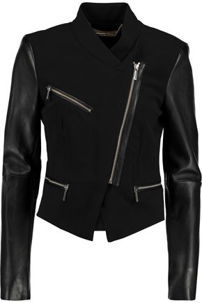 MICHAEL MICHAEL KORS Leather-paneled jersey jacket