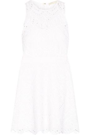 MICHAEL MICHAEL KORS Broderie anglaise cotton mini dress