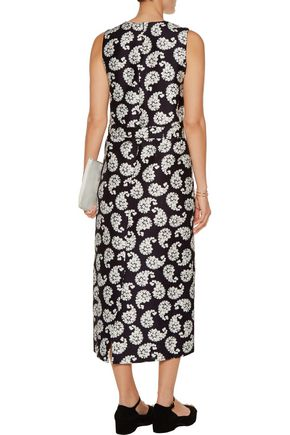 MOTHER OF PEARL Simmons printed cotton and silk-blend midi dress