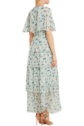 VILSHENKO Rena printed silk-chiffon maxi dress