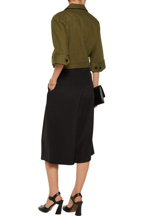 10 CROSBY DEREK LAM Cropped belted cotton jacket