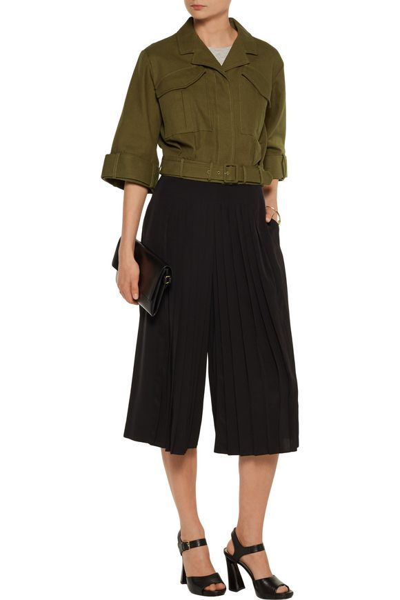 Cropped belted cotton jacket | DEREK LAM 10 CROSBY | Sale up to 70% off |  THE OUTNET