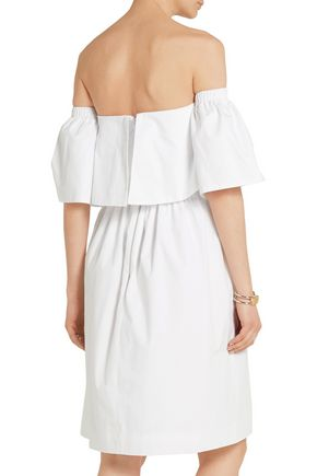 PAPER London Katia off-the-shoulder cotton-poplin dress