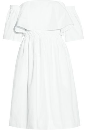 PAPER London Katia off-the-shoulder cotton-poplin dress