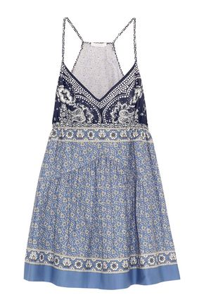 CHLOÉ Printed cotton-voile mini dress