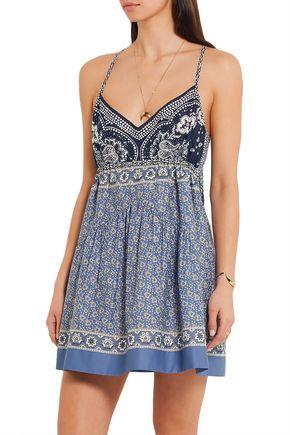 CHLOÉ Printed cotton-voile mini dress