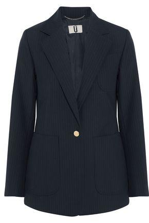 TOPSHOP UNIQUE Jermyn pinstriped crepe blazer