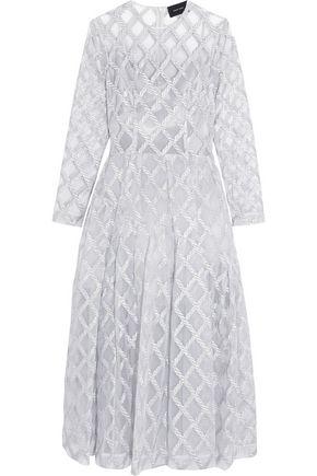 SIMONE ROCHA Metallic embroidered tulle midi dress
