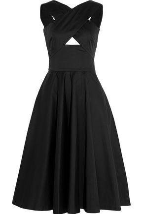 TOMAS MAIER Stretch-cotton poplin midi dress