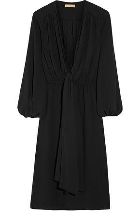 MICHAEL KORS COLLECTION Wrap-effect silk-georgette dress