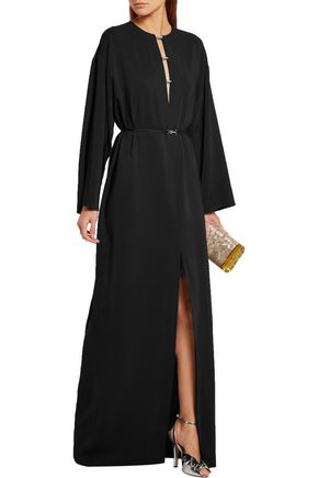 LANVIN Swarovski crystal-embellished stretch-crepe gown