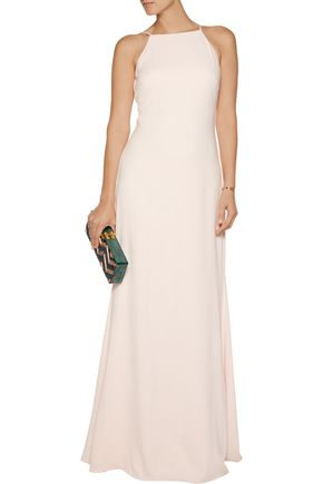 BADGLEY MISCHKA Pleated cady gown