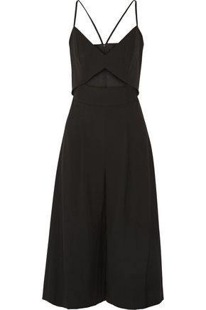 MICHELLE MASON Cutout stretch-cady jumpsuit