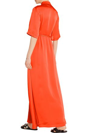 MERCHANT ARCHIVE Silk-satin maxi dress