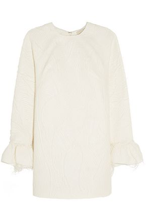 MERCHANT ARCHIVE Ruffled matelassé mini dress