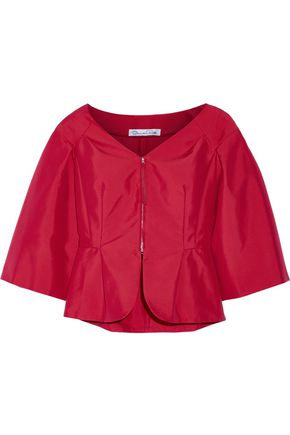 OSCAR DE LA RENTA Cotton-blend taffeta jacket