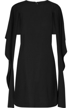 ROSETTA GETTY Cape-effect textured-crepe dress
