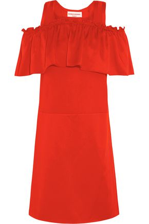 SONIA RYKIEL Ruffled satin mini dress