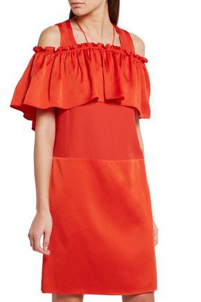 SONIA RYKIEL Ruffled satin mini dress