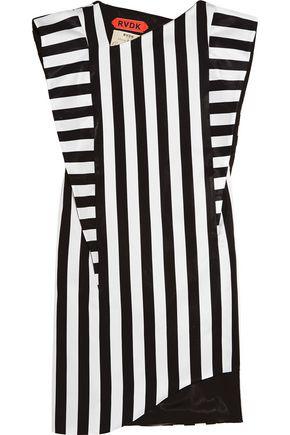 RONALD VAN DER KEMP Striped satin mini dress