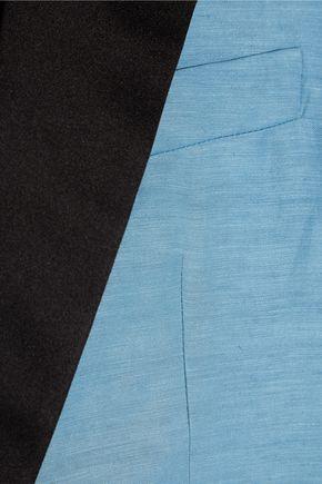 HAIDER ACKERMANN Satin-trimmed linen and silk-blend blazer