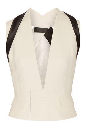 HAIDER ACKERMANN Satin-trimmed crepe vest