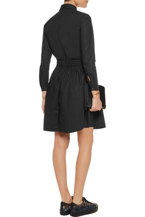 CARVEN Cutout cotton mini dress