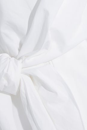 CARVEN Gathered cotton-poplin dress