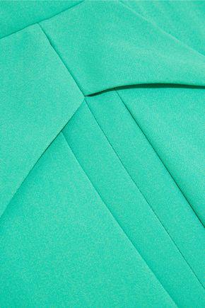 ROLAND MOURET Miller pleated stretch-crepe dress