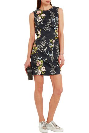 TOPSHOP UNIQUE Harleyford floral-print stretch-cotton mini dress