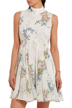 TOPSHOP UNIQUE Hambledon floral-print silk-georgette dress