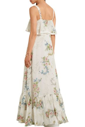 TOPSHOP UNIQUE Hambledon floral-print silk-georgette maxi dress