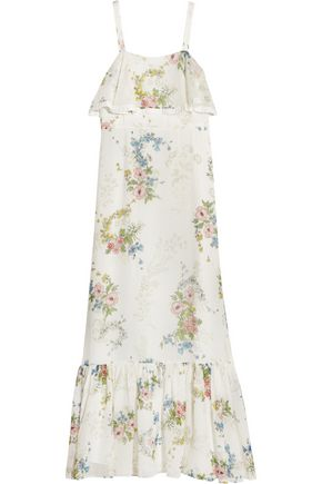 TOPSHOP UNIQUE Hambledon floral-print silk-georgette maxi dress