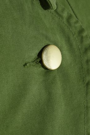 TOPSHOP UNIQUE Badgemore cotton-drill jacket