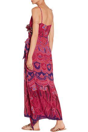 ANNA SUI Zandra printed crinkled silk-chiffon maxi dress